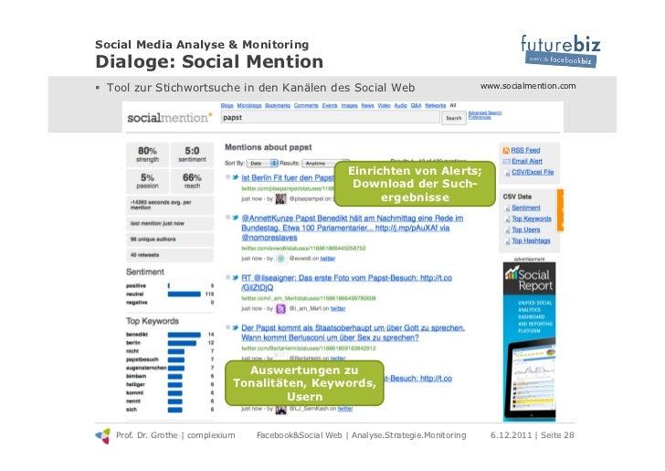 Social Media Analyse & MonitoringDialoge: Social Mention! Tool zur Stichwortsuche in den Kanälen des Social Web          ...
