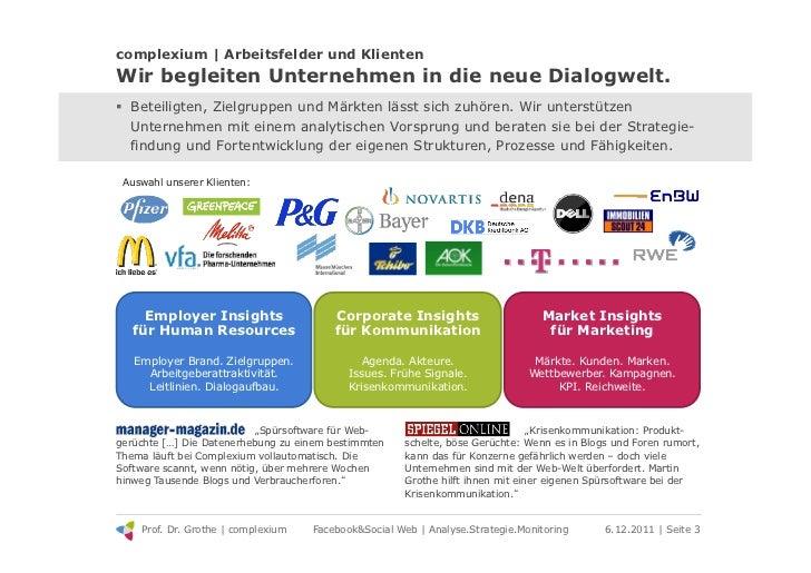 complexium | Arbeitsfelder und KlientenWir begleiten Unternehmen in die neue Dialogwelt.! Beteiligten, Zielgruppen und Mä...