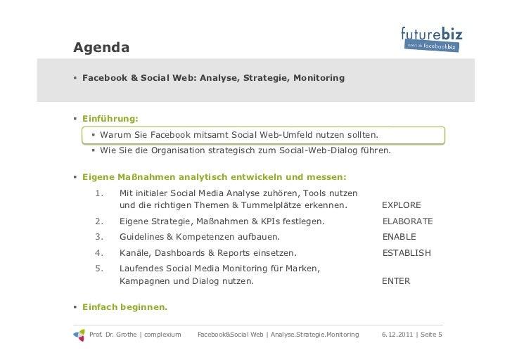 Agenda! Facebook & Social Web: Analyse, Strategie, Monitoring! Einführung:   ! Warum Sie Facebook mitsamt Social Web-Um...