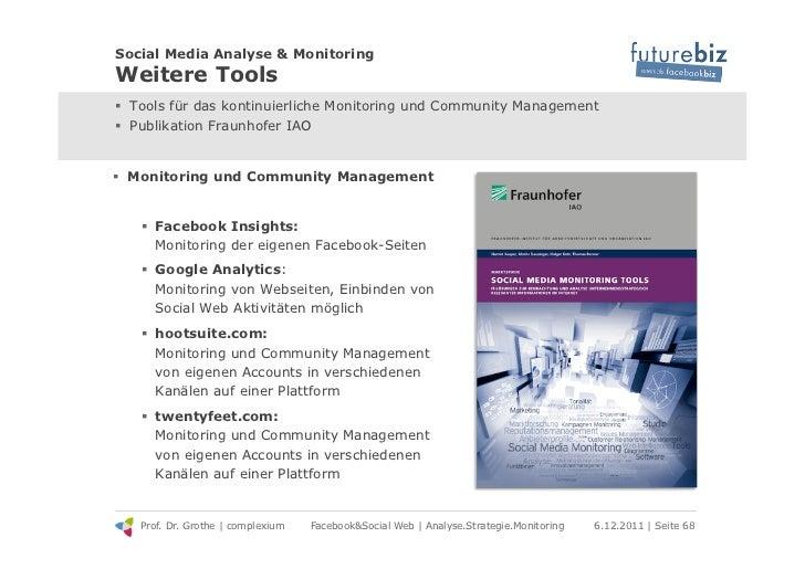 Social Media Analyse & MonitoringWeitere Tools! Tools für das kontinuierliche Monitoring und Community Management! Publi...