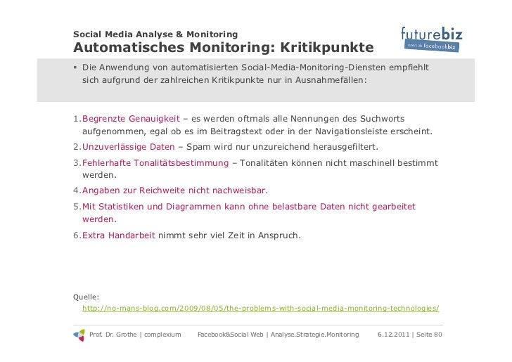 Social Media Analyse & MonitoringAutomatisches Monitoring: Kritikpunkte! Die Anwendung von automatisierten Social-Media-M...