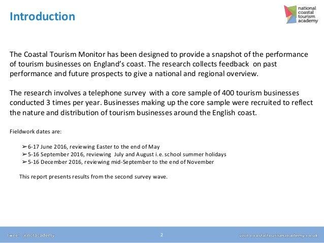 Coastal Tourism Monitor - Wave 2 Results Slide 2