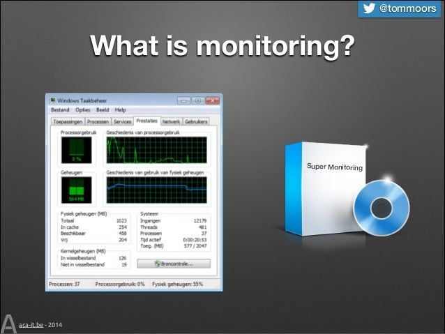 @tommoors  What is monitoring?  Super Monitoring  aca-it.be - 2014
