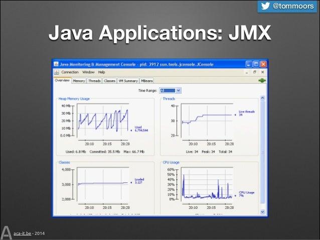 @tommoors  Java Applications: JMX  aca-it.be - 2014