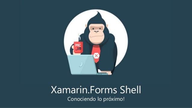 Xamarin.Forms Shell Conociendo lo próximo!