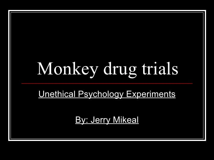 Monkey Drug Trials Experiment