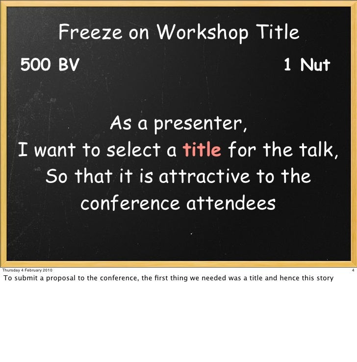 Make me an offer I can't refuse – Writing an abstracts for a CFP