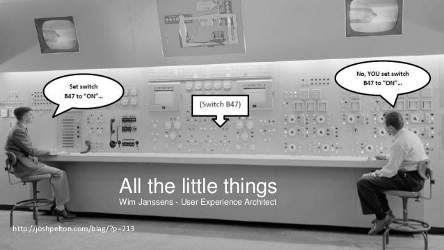 All the little things Wim Janssens - User Experience Architect http://joshpelton.com/blag/?p=213