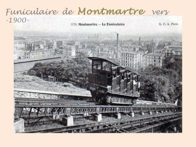 Funiculaire – Gare d'arrivée - Vers 1900 . Montmartre