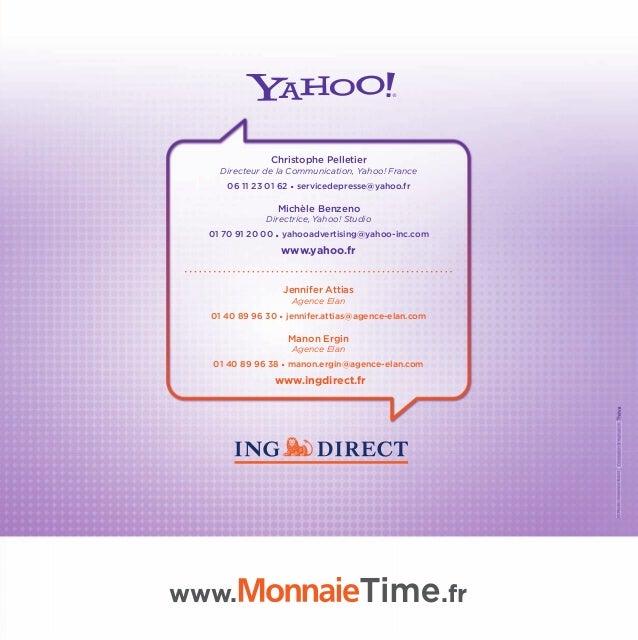 Yahoo! et ING Direct s'associent pour créer Monnaie Time