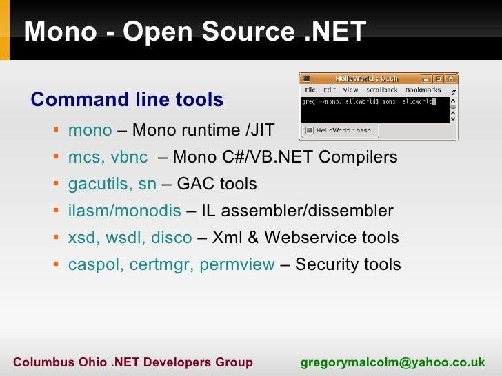 NET Lightning Talk - Mono