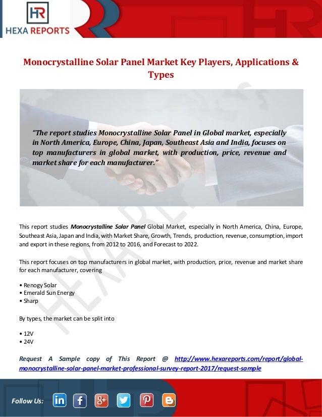 Monocrystalline Solar Panel Market Key Players
