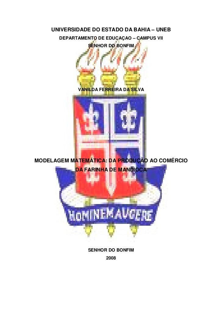 UNIVERSIDADE DO ESTADO DA BAHIA – UNEB       DEPARTAMENTO DE EDUCAÇAO – CAMPUS VII                 SENHOR DO BONFIM       ...