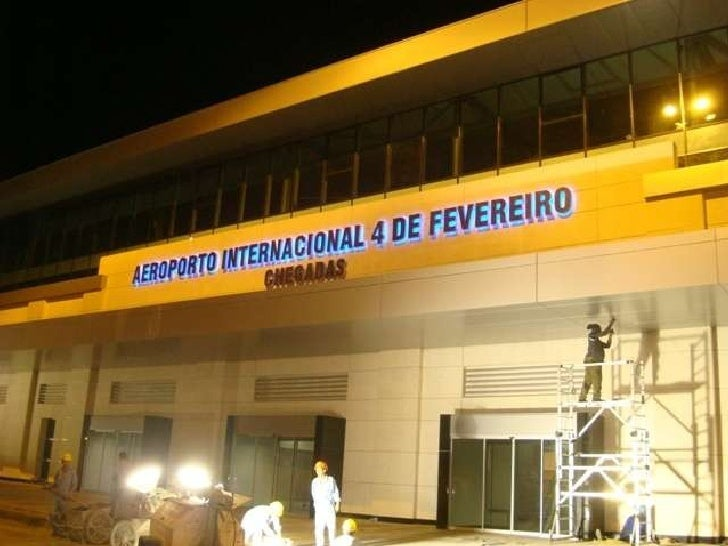 Aeroporto Luanda Chegadas : Monofasica angola obra ampliacao aeroporto fevereiro luanda