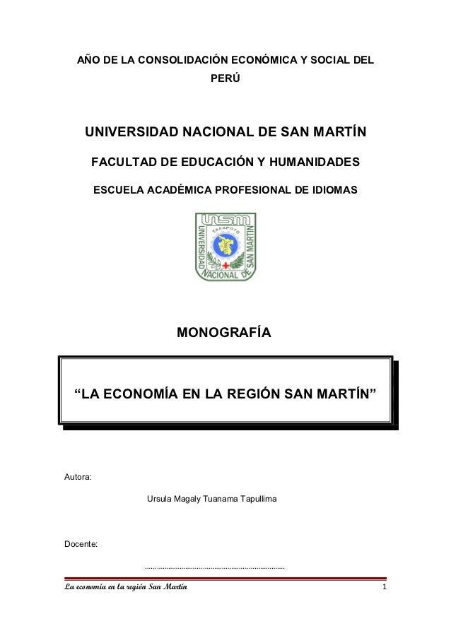 AÑO DE LA CONSOLIDACIÓN ECONÓMICA Y SOCIAL DEL                                      PERÚ     UNIVERSIDAD NACIONAL DE SAN M...