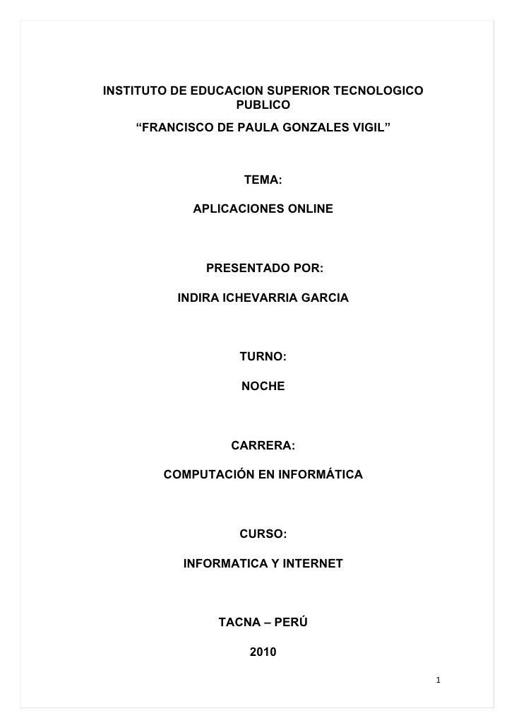 """INSTITUTO DE EDUCACION SUPERIOR TECNOLOGICO                   PUBLICO     """"FRANCISCO DE PAULA GONZALES VIGIL""""             ..."""