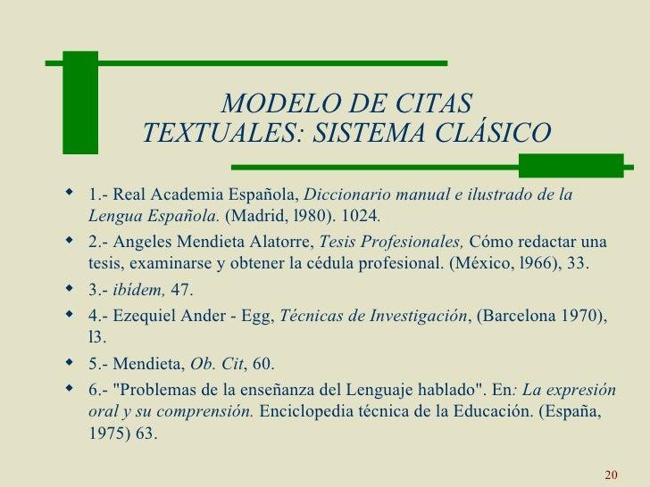 sistema hispanoamericano de citas
