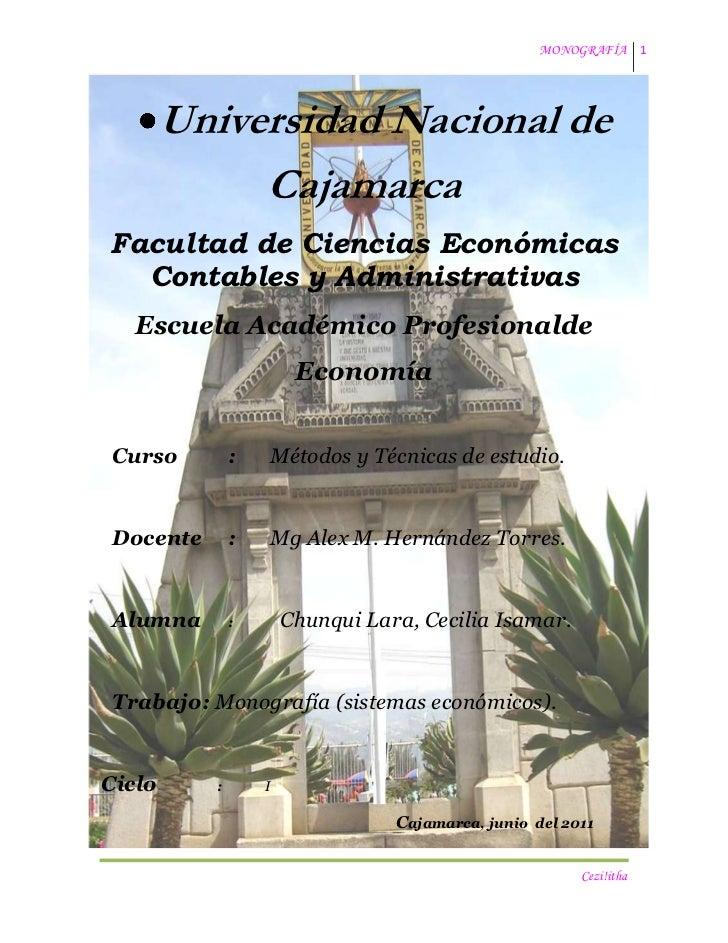 -137160-19539900Universidad Nacional de <br />Cajamarca<br />Facultad de Ciencias Económicas Contables y Administrativas<b...