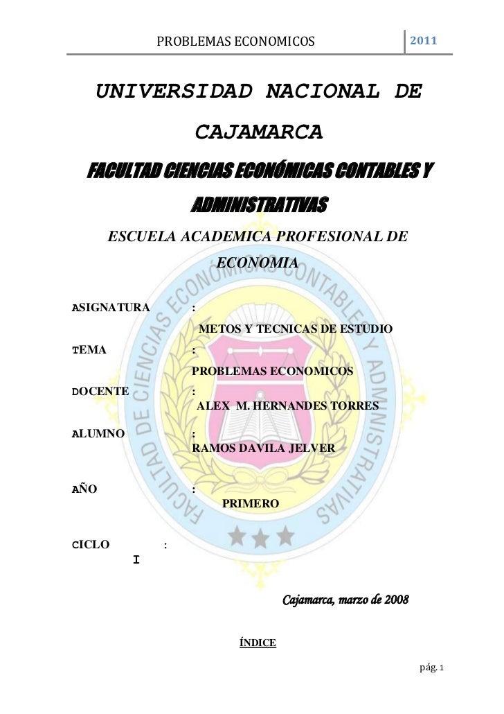 UNIVERSIDAD NACIONAL DE CAJAMARCA<br />30924572326500FACULTAD CIENCIAS ECONÓMICAS CONTABLES Y ADMINISTRATIVAS<br />ESCUELA...