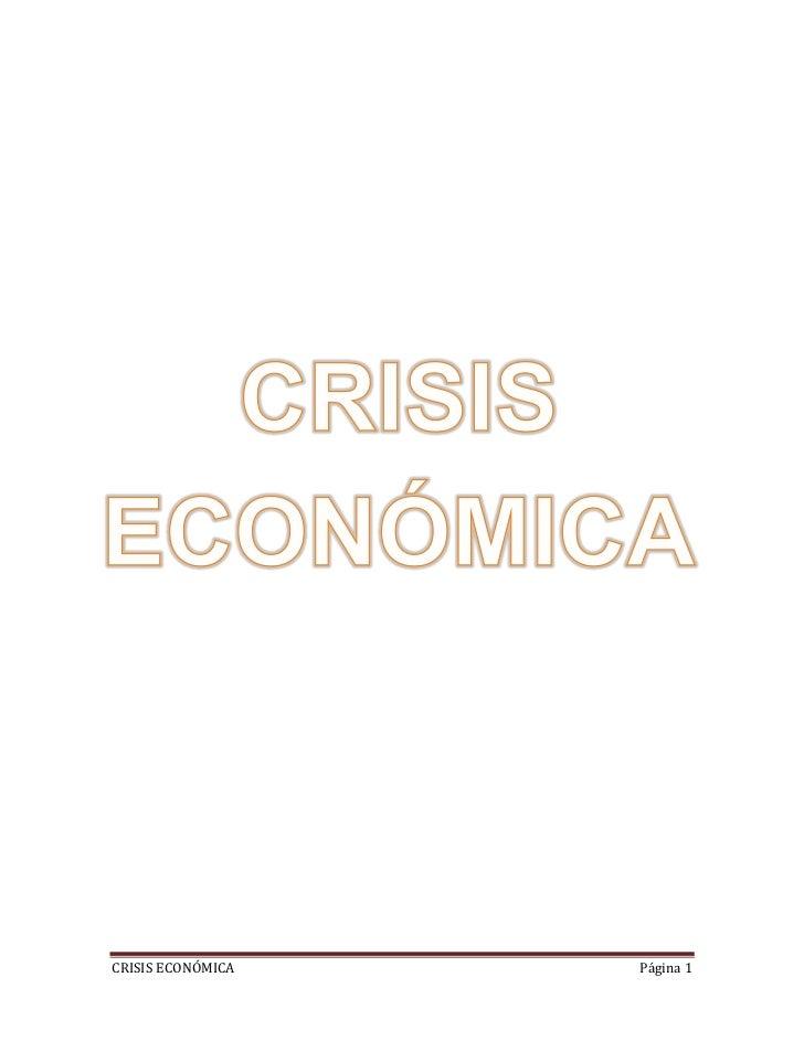 CRISIS ECONÓMICA   Página 1