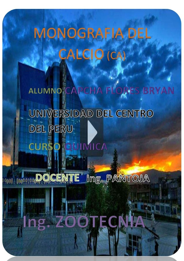 MONOGRAFIA DEL CALCIO (CA)