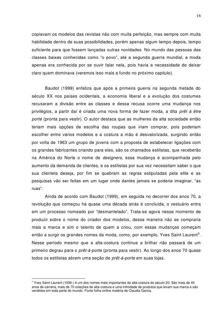 Monografia CATÁLOGOS DE MODA: A influência do figurino nas