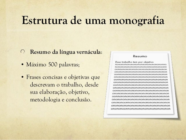 Estrutura de monografia