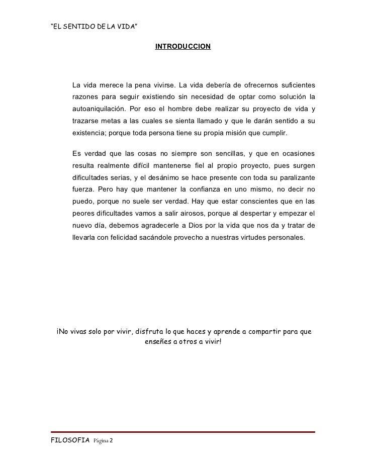 monografia el sentido de la vida153 Monografia Preco #13