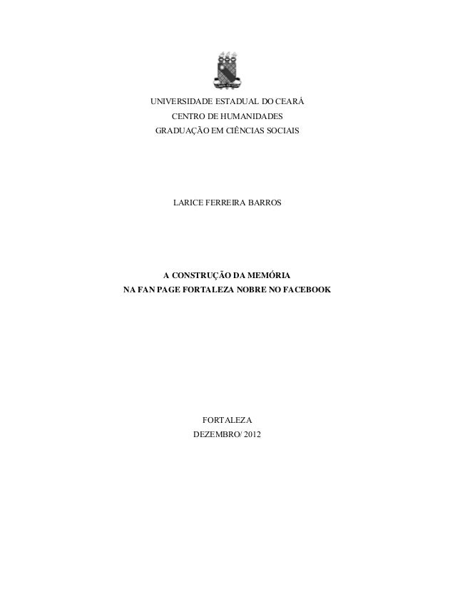 UNIVERSIDADE ESTADUAL DO CEARÁ CENTRO DE CIÊNCIAS SOCIAIS