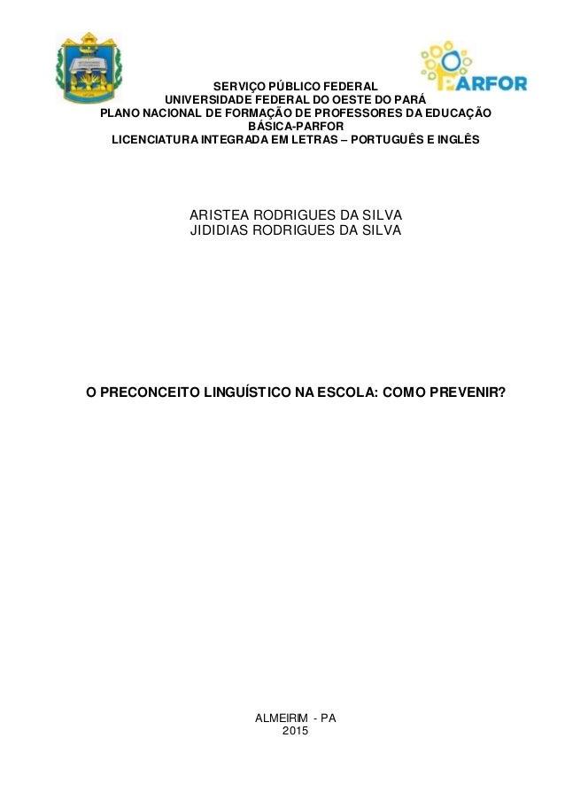 SERVIÇO PÚBLICO FEDERAL UNIVERSIDADE FEDERAL DO OESTE DO PARÁ PLANO NACIONAL DE FORMAÇÃO DE PROFESSORES DA EDUCAÇÃO BÁSICA...