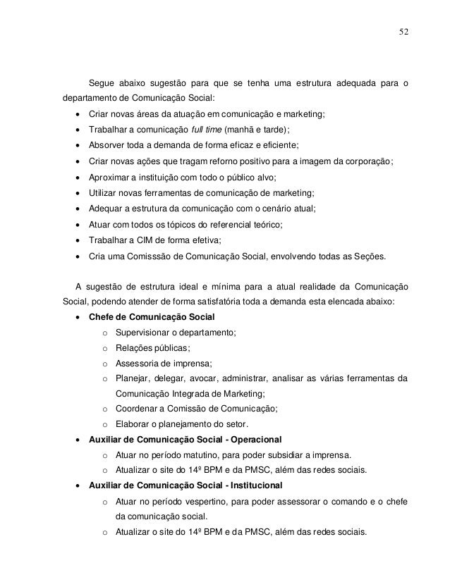 Monografia Reestruturação do Setor de Comunicação Social do 14º BPM com ênfase na Comunicação Integrada de Marketing