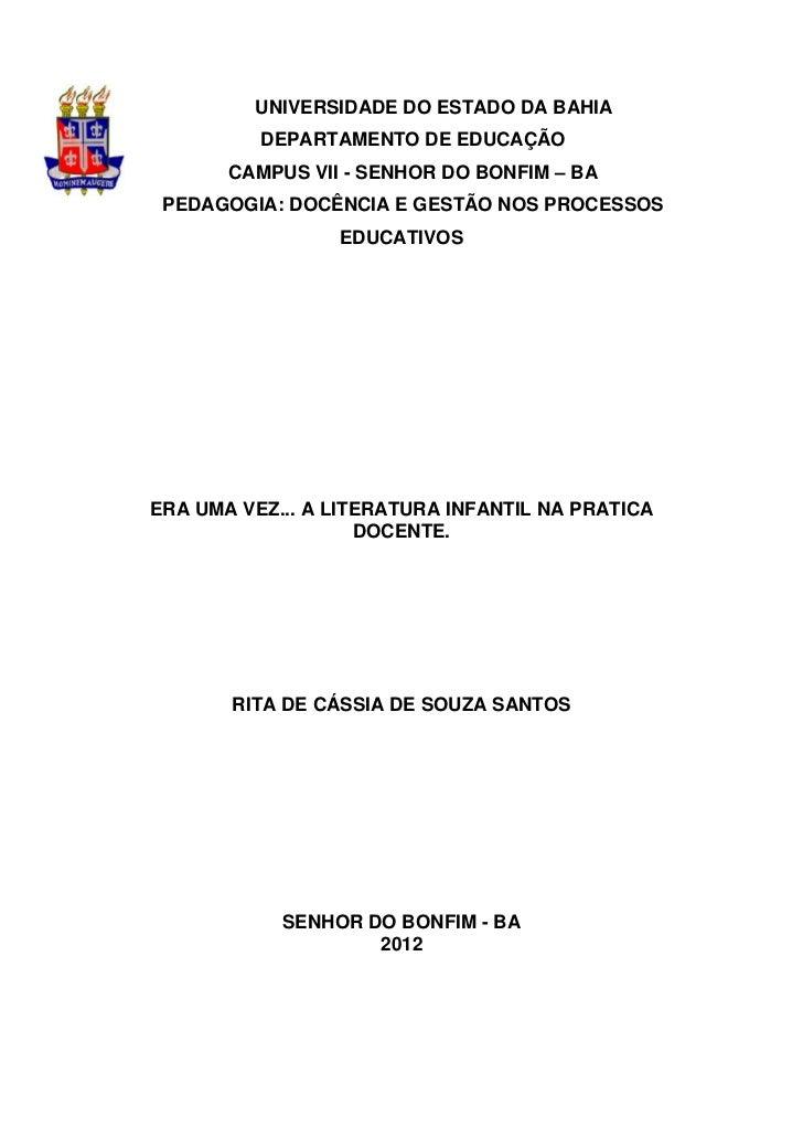 1         UNIVERSIDADE DO ESTADO DA BAHIA          DEPARTAMENTO DE EDUCAÇÃO       CAMPUS VII - SENHOR DO BONFIM – BA PEDAG...