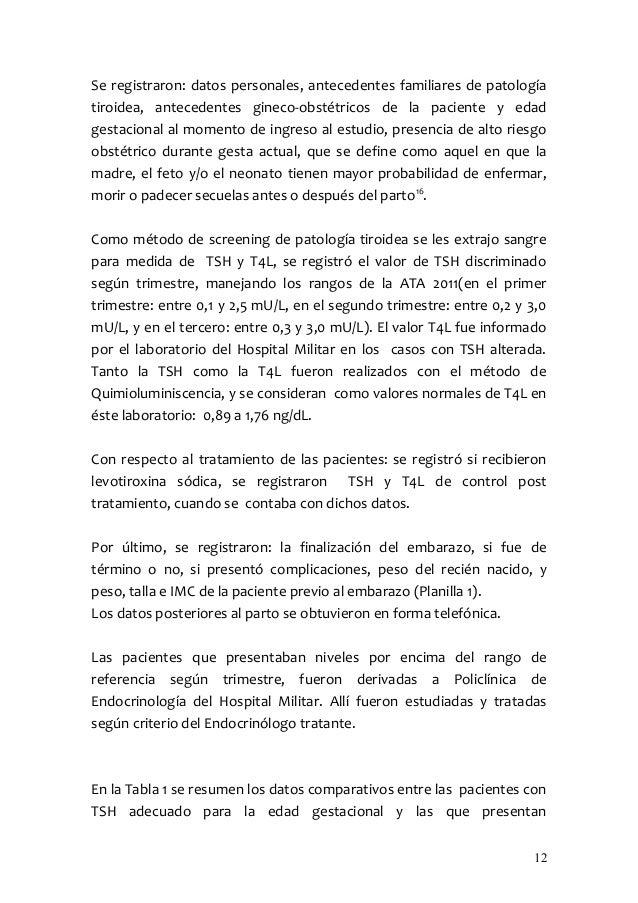 Se registraron: datos personales, antecedentes familiares de patologíatiroidea, antecedentes gineco-obstétricos de la paci...