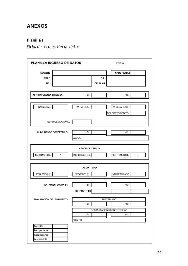 ANEXOSPlanilla 1Ficha de recolección de datos  PLANILLA INGRESO DE DATOS                                                  ...