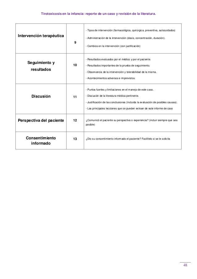 Tirotoxicosis en la infancia: reporte de un caso y revisión de la literatura. 48 Intervención terapéutica 9 - Tipos de int...