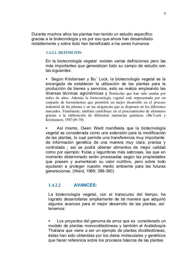 Monografia biotecnologia