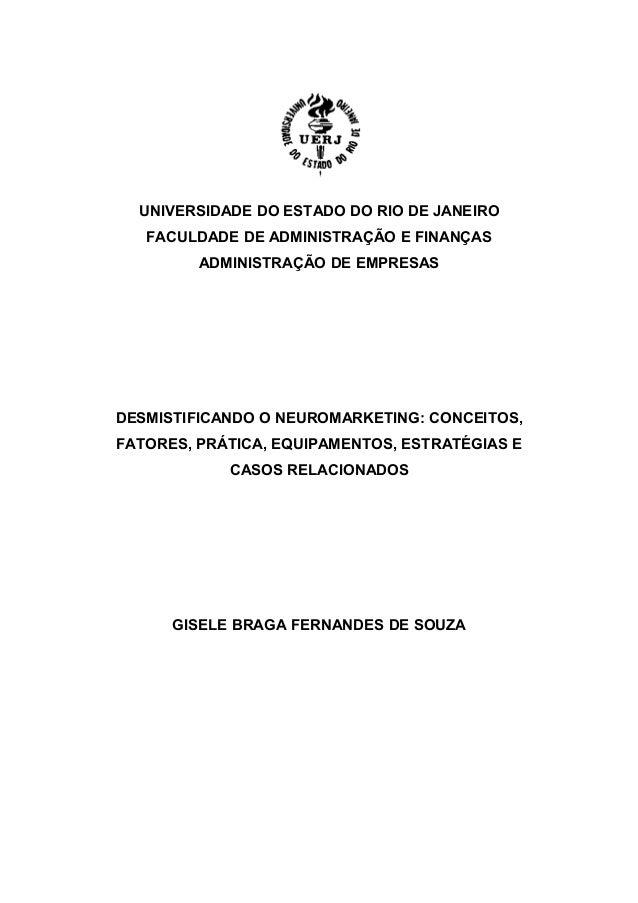 UNIVERSIDADE DO ESTADO DO RIO DE JANEIRO FACULDADE DE ADMINISTRAÇÃO E FINANÇAS ADMINISTRAÇÃO DE EMPRESAS  DESMISTIFICANDO ...