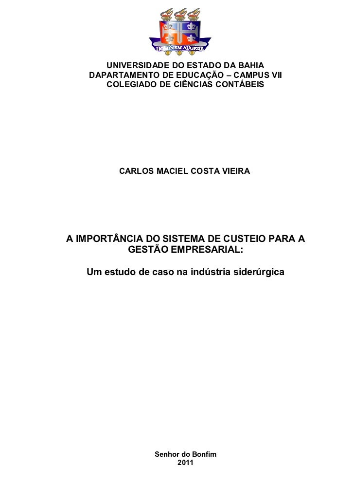 UNIVERSIDADE DO ESTADO DA BAHIA    DAPARTAMENTO DE EDUCAÇÃO – CAMPUS VII       COLEGIADO DE CIÊNCIAS CONTÁBEIS         CAR...