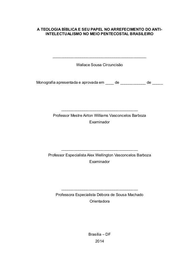 Monografia de teologia
