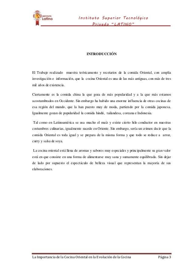 Monografia de cocina oriental for Cocina de investigacion