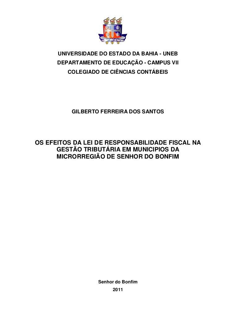 0      UNIVERSIDADE DO ESTADO DA BAHIA - UNEB      DEPARTAMENTO DE EDUCAÇÃO - CAMPUS VII         COLEGIADO DE CIÊNCIAS CON...
