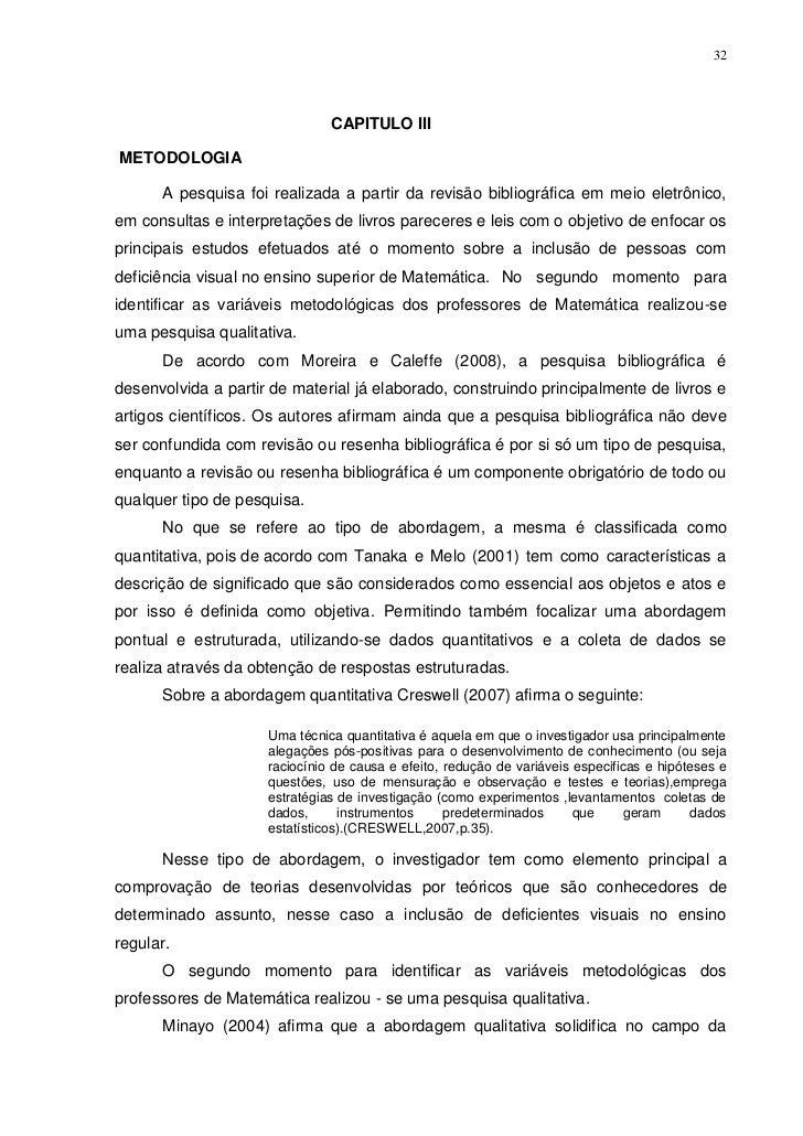 32                               CAPITULO IIIMETODOLOGIA      A pesquisa foi realizada a partir da revisão bibliográfica e...