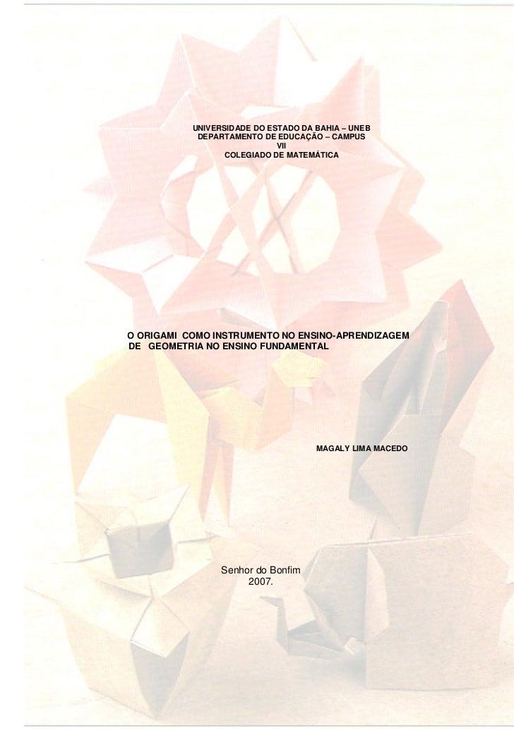 UNIVERSIDADE DO ESTADO DA BAHIA – UNEB            DEPARTAMENTO DE EDUCAÇÃO – CAMPUS                             VII       ...