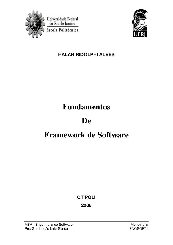 HALAN RIDOLPHI ALVES                      Fundamentos                                De           Framework de Software   ...