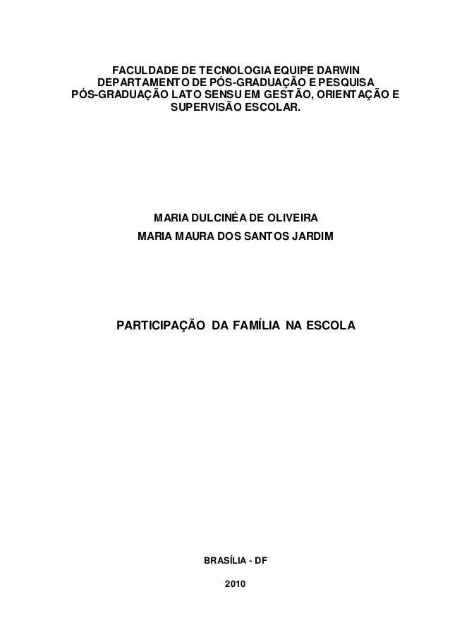 0 FACULDADE DE TECNOLOGIA EQUIPE DARWIN DEPARTAMENTO DE PÓS-GRADUAÇÃO E PESQUISA PÓS-GRADUAÇÃO LATO SENSU EM GESTÃO, ORIEN...
