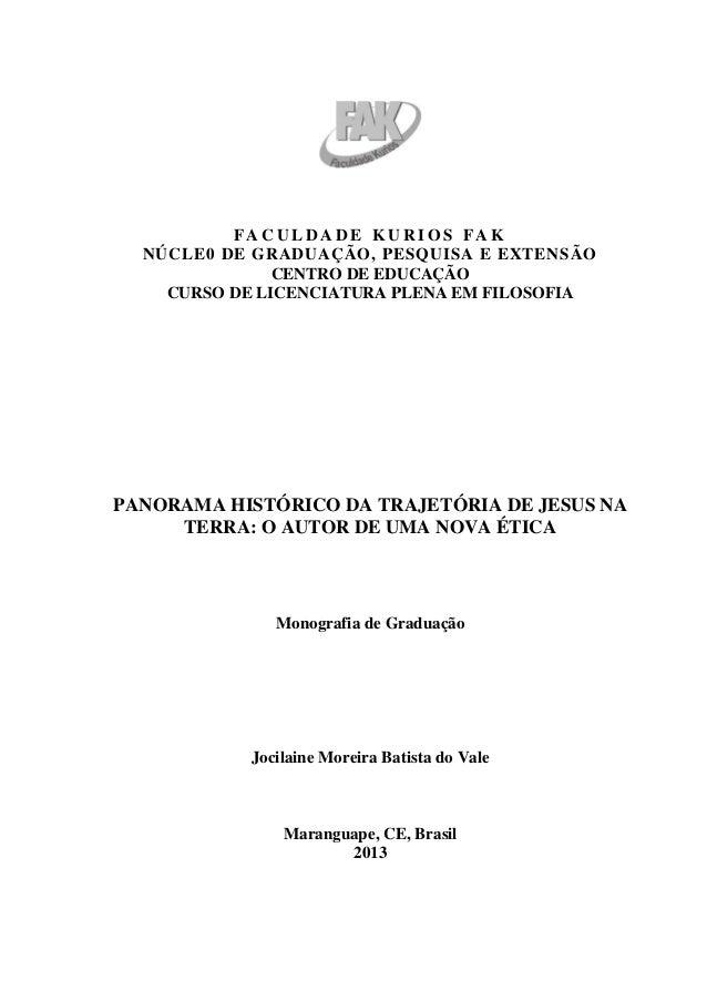 FACULDADE KURIOS FAK  NÚCLE0 DE GRADUAÇÃO, PESQUISA E EXTENSÃO               CENTRO DE EDUCAÇÃO    CURSO DE LICENCIATURA P...