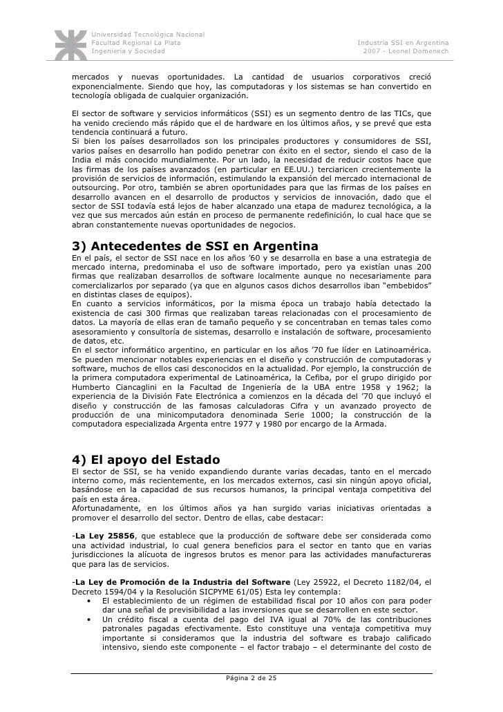 Monografía industria software en Argentina Slide 2