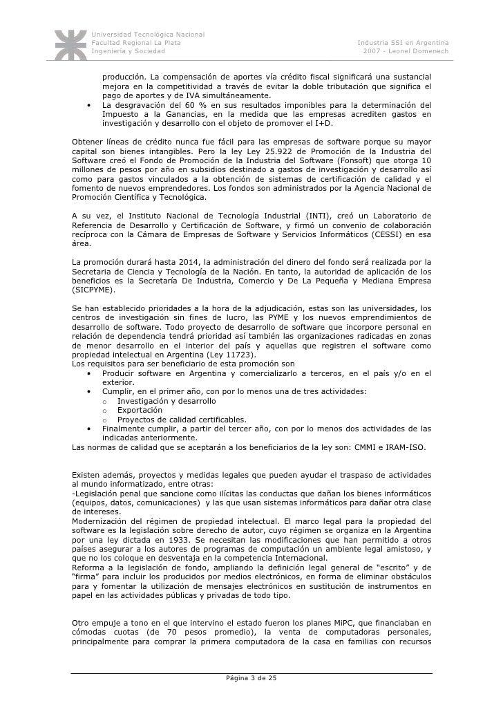 Monografía industria software en Argentina Slide 3
