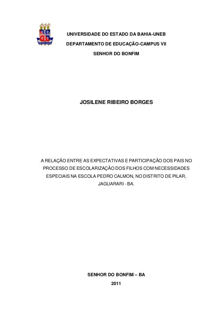UNIVERSIDADE DO ESTADO DA BAHIA-UNEB         DEPARTAMENTO DE EDUCAÇÃO-CAMPUS VII                    SENHOR DO BONFIM      ...