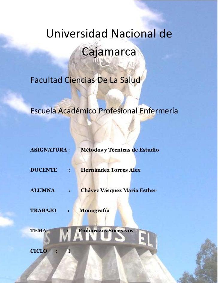 -1956435-890270Universidad Nacional de Cajamarca<br />Facultad Ciencias De La Salud<br />Escuela Académico Profesional Enf...